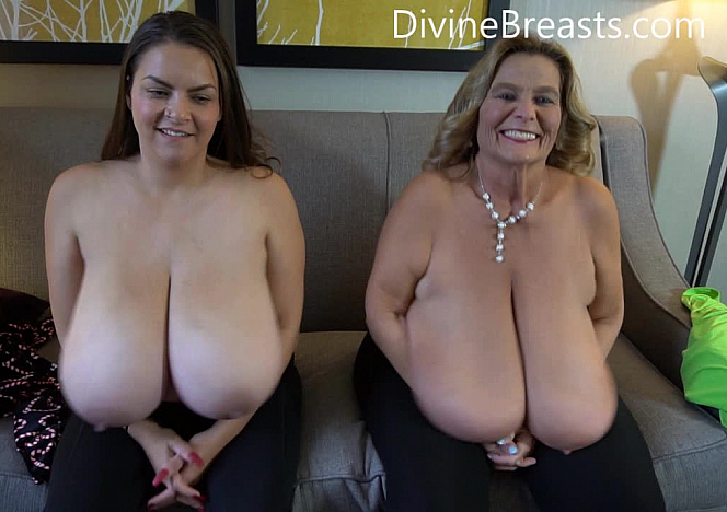 DivineBreasts Alaura Grey and Sarah Big Tits Players