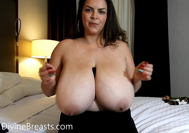DivineBreasts Alaura Grey Busty Bra Try Outs