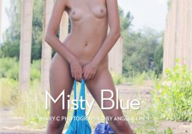 Erotic-Beauty Mary C in Misty Blue