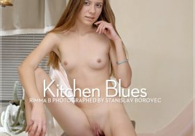 Erotic-Beauty Rimma B in Kitchen Blues