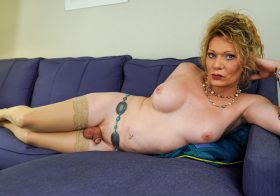 TGirl40 Peggy Delivers A Hot Solo!