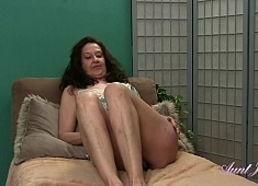 Auntjudys Cherise Rubs Her Feet and Her Hairy Pussy