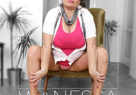 MATURE NL update   13259 voluptuous wanessa with her big breasts is playing with her pussy