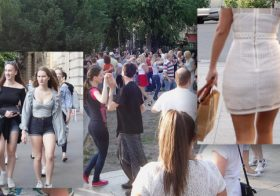 Asiansexdiary Budapest Park Dancers And Hotties Everywhere