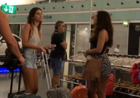 Asiansexdiary Braless Girl in Jean Shorts @ Airport Got Me All  ?