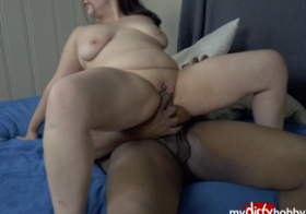 MydirtyHobby BBW Slut Wife Fucks Her BBC Friend In Front of Her BF!!! What A Whore!! PT 2 ownedfotze