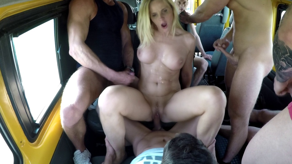 Brutal gangbang with a busty MILF  Preview