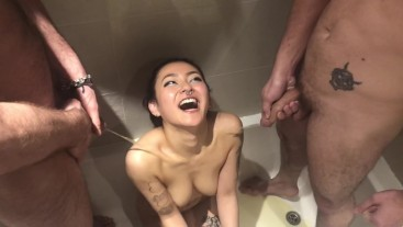 rae-lil-black Quick Bathroom fuck and Golden Shower from 3 guys - RaeLilBlack  Preview