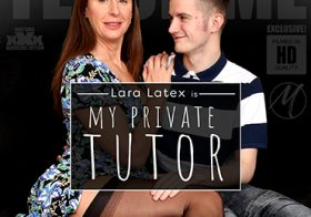 MATURE NL update   13600 naughty lara latex is tutoring her toyboy in sexlessons