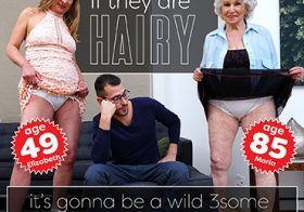 MATURE NL update   13624 a hairy granny threesome goes extremely wild