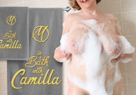 MATURE NL update   13359 big breasted camilla is taking a bath will you join her