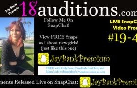 MANYVIDS JayBankPresents in 19-47 LIVE SnapChat Premium 18auditions