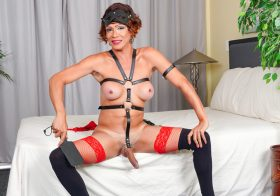 TGirl40 Mistress Tata Kidd Cums For You!
