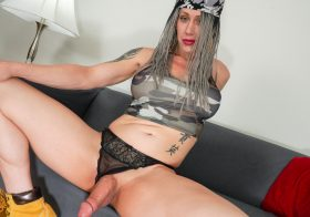 TGirl40 Kimber Haven Cums For You!