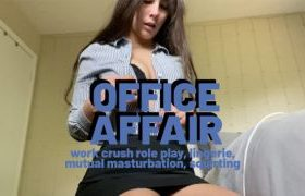 MANYVIDS LanaTy in OFFICE AFFAIR – MUTUAL MASTURBATION