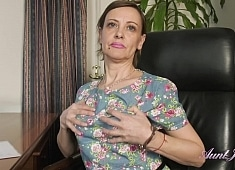 Auntjudys Gerda Strips & Plays For You in the Office