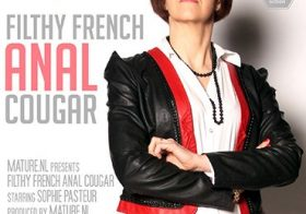 MATURE NL update   13766 filthy french cougar takes it up the ass and a mouth full of cum