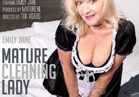 MATURE NL update   13650 mature emily jane is a very naughty housemaid that love to get dirty