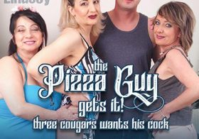 MATURE NL update   13712 three horny cougars seduce a pizza guy for steamy groupsex