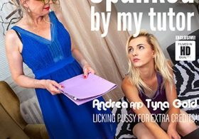 MATURE NL update   13791 skinny young tyna gets licked and spanked by her older lesbian tutor andrea
