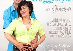 MATURE NL update   13714 mature jennifer loves doggystyle on her first date with her younger lover
