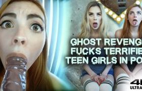 MANYVIDS RoxyCox in Ghost Gags & Fucks Scared Ahegao Teens