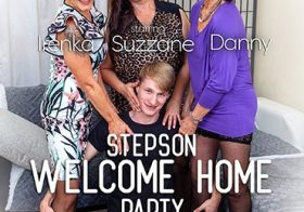 MATURE NL A stepsons coming home party with three horny cougars