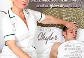 MATURE NL Mature Nurse Skyler loves to fix up horny toyboys