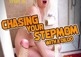 MATURE NL Stepmom Tracey Lain gets chased with a dildo