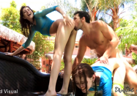 twistedvisual Ashlyn And Misha Share A Fat Cock Poolside
