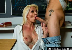 My First Sex Teacher My First Sex Teacher Anita Blue Porn star Professor Anita Blue LOVES to ride young college cock in her classroom  Feb 3, 2021.mp4