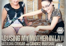 MATURE NL Mother in law Natasha Cougar gets a special anal present from Candice Marshal