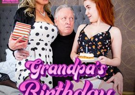 MATURE NL Happy birthday Grandpa! Your MILF wife has a special horny young gift!