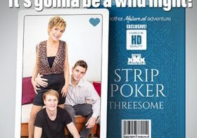 MATURE NL Stripoker threesome with a mature slut and two toyboys