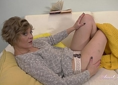 Auntjudys Yana Couch Panties & Pussy Play
