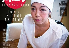 MATURE NL MILF Hitomi Akiyama loves cleaning a toyboys place and then some