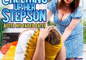 MATURE NL Milf Lady Ava needs to cheer up her stepson after his failed date