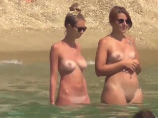 Hot nudist babes on the beach  Preview