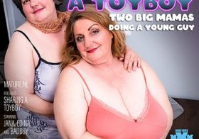 MATURE NL Big breasted threesome with one lucky toyboy