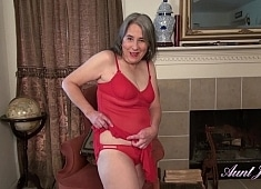 Auntjudys Grace in New Lingerie Brings Out the Vibrator